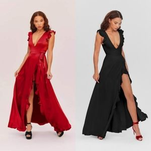 Fame and Partners| The Kira Dress Maxi Gown Red 12